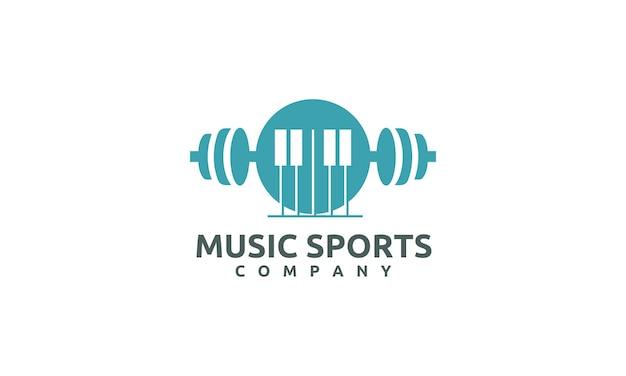 Sportlogo-ontwerp met klassieke muziek