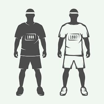 Sportman in retro stijl