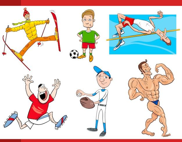 Sportmannen cartoon set