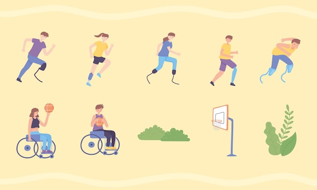 Sportmensen met prothese
