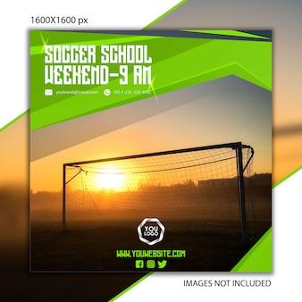 Sportpublicatie voetbal voor sociaal netwerk