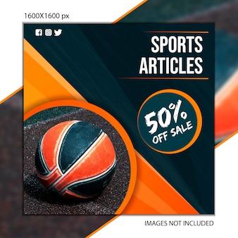 Sportpublicatiebasketbal voor sociaal netwerk