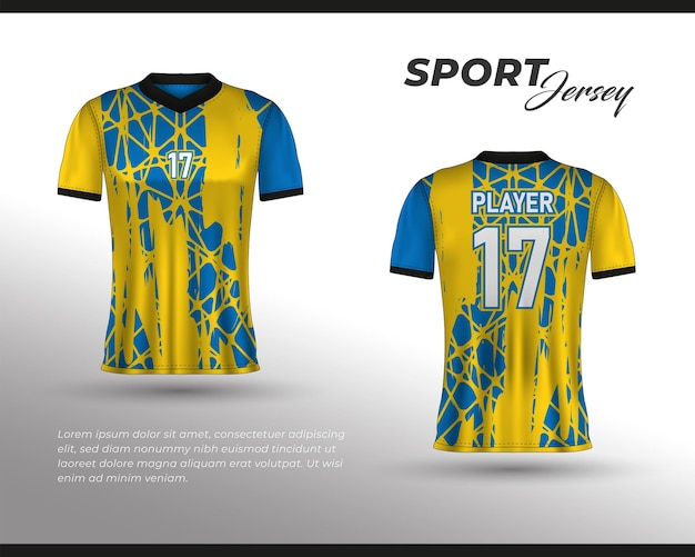 Sportrace-jerseyontwerp t-shirt vooraan achteraan