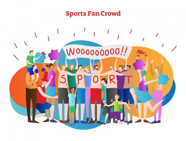 Sports fan menigte vector illustratie scène