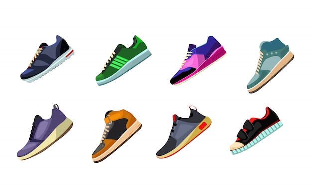 Sportschoenen en sneakers ingesteld
