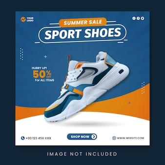 Sportschoenen zomerverkoop social media postsjabloon