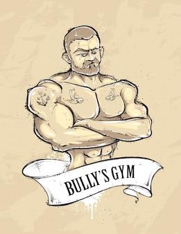 Sportschool man achtergrond