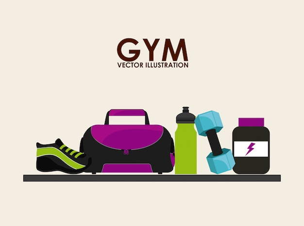Sportschool pictogram