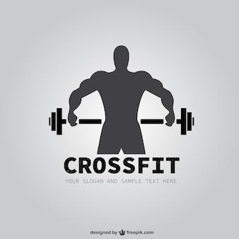 Sportschool vector gratis logo