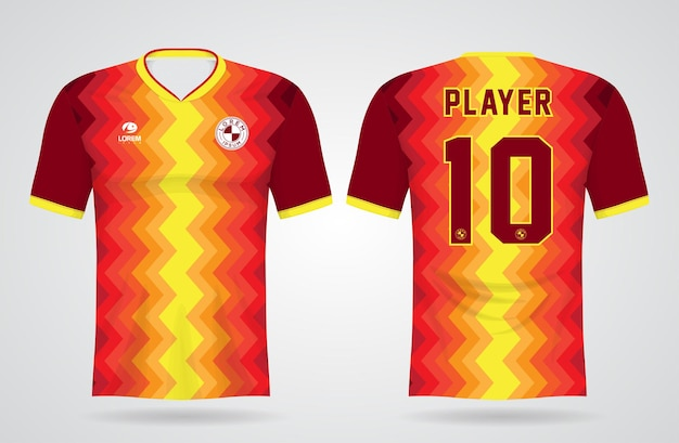 Sportshirt sjabloon voor teamuniformen en voetbal t-shirtontwerp
