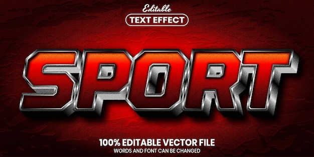 Sporttekst, bewerkbaar teksteffect in lettertypestijl