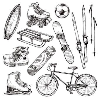 Sportuitrusting set