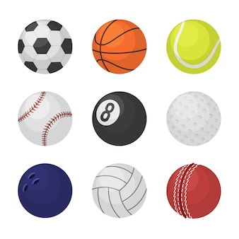 Sportuitrusting spelballen voetbal basketbal tennis cricket biljart bowling volleybal