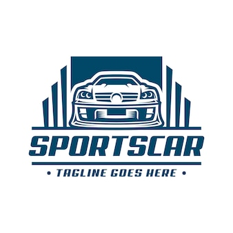 Sportwagen logo sjabloon of pictogram