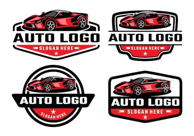 Sportwagen logo sjabloon