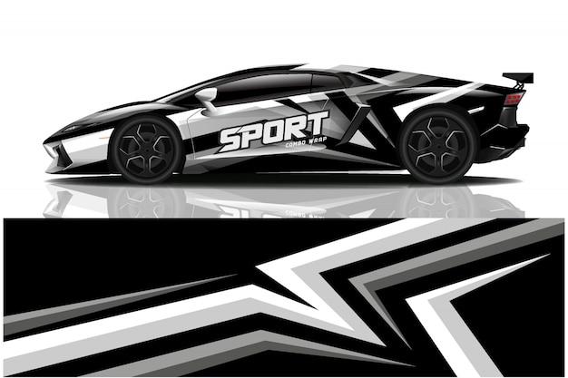 Sportwagen sticker wrap, auto kleurstelling