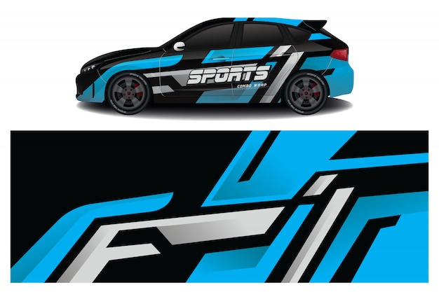 Sportwagen sticker wrap