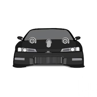 Sportwagen vector illustratie geïsoleerd op een witte achtergrond volledige bewerkbare indeling
