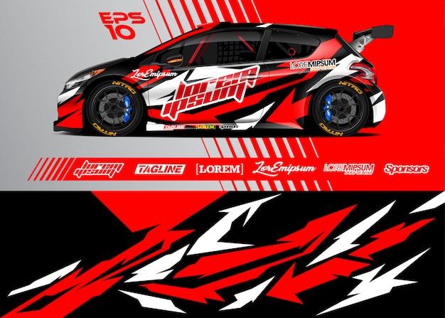 Sportwagen wrap-ontwerp