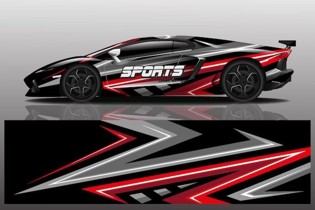 Sportwagen wrap ontwerp