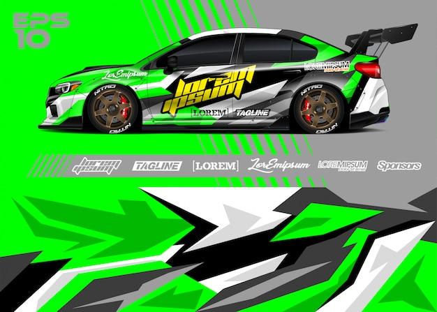 Sportwagen wrap ontwerpen