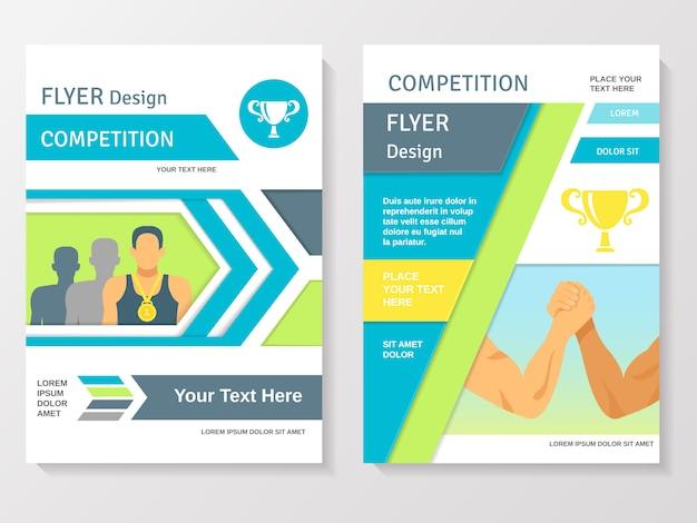 Sportwedstrijd flyer template