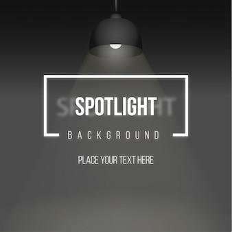 Spotlight achtergrond met realistische lamp