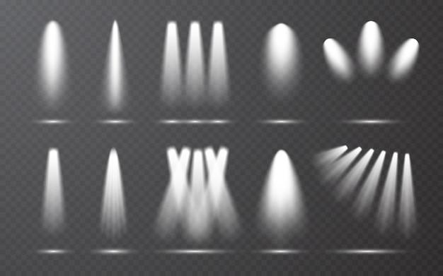 Spotlight-collectie op transparante bakgrond