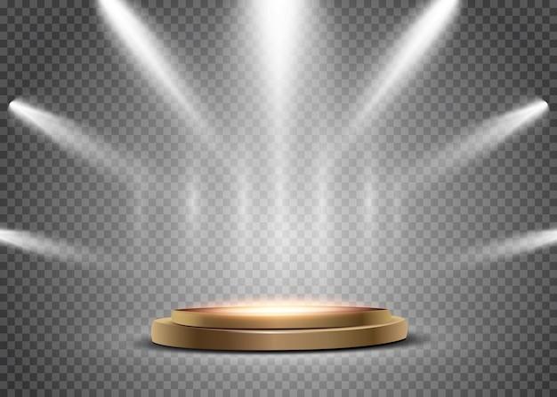 Spotlight geïsoleerd op transparante achtergrond