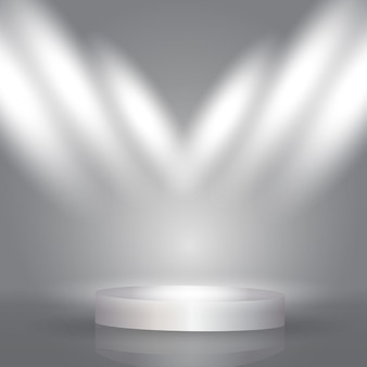 Spotlight scherm achtergrond met de presentatie podium