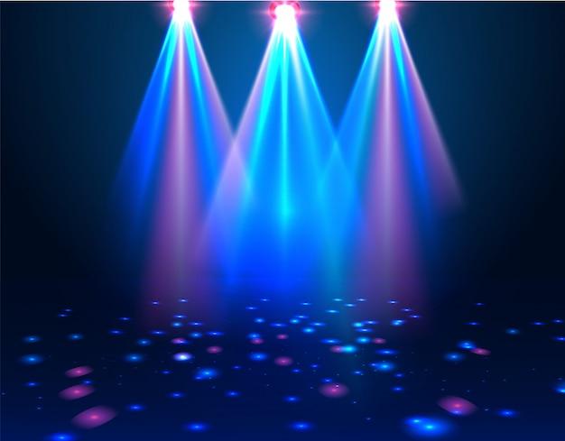 Spotlights & lege scène.