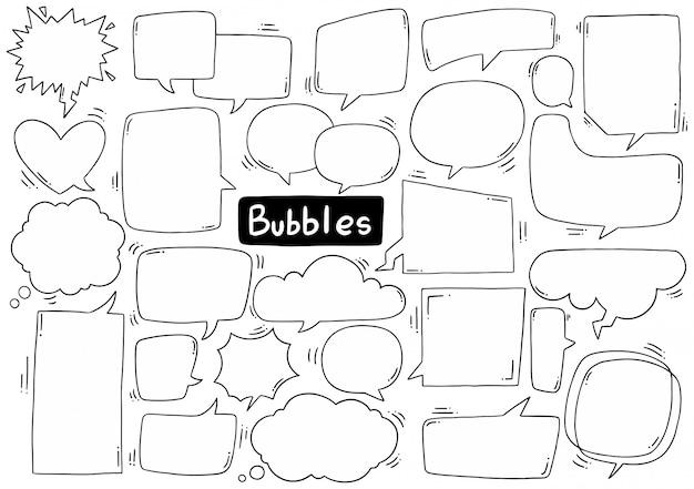 Spraak bubbel collectie