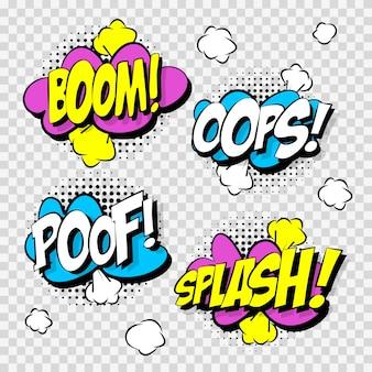 Spraakbellen in comic stijl