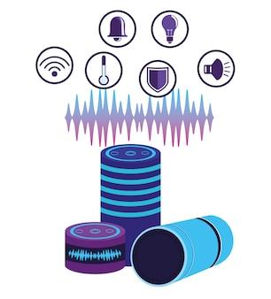 Spraakherkenning luidspreker voor smartphones