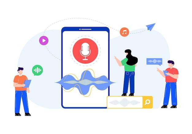 Spraakherkenning trendy illustratie vector
