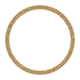 Sprankelend gouden frame, glittercirkel. geweldig voor huwelijksuitnodigingen, kaarten, banners.