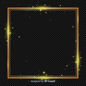 Sprankelend gouden frame