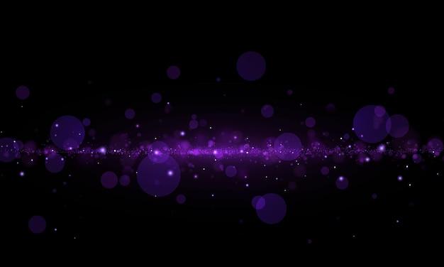 Sprankelend paars magisch stof en deeltjes. abstract bokeh-effect.