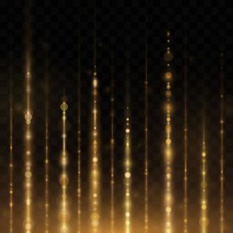 Sprankelend vallende lichtgevende deeltjes.