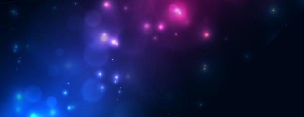 Sprankelende bokeh-lichteffectbanner in twee kleuren