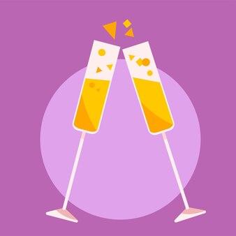 Sprankelende champagne vectorglazen