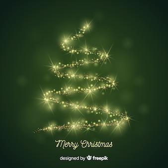 Sprankelende kerstboom achtergrond