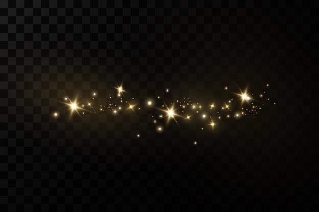 Sprankelende magische stofdeeltjes