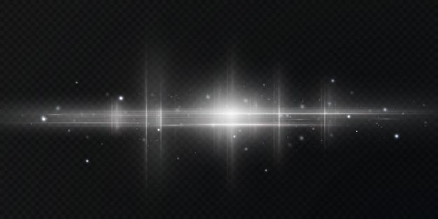 Sprankelende stofdeeltjes en sterren.