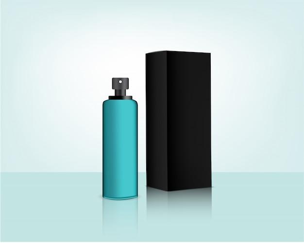 Spray fles pomp mock-up en verpakking