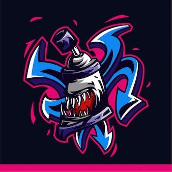 Spray graffiti vectorillustraties