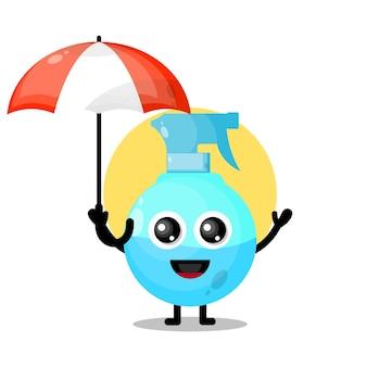 Spray paraplu schattig karakter mascotte