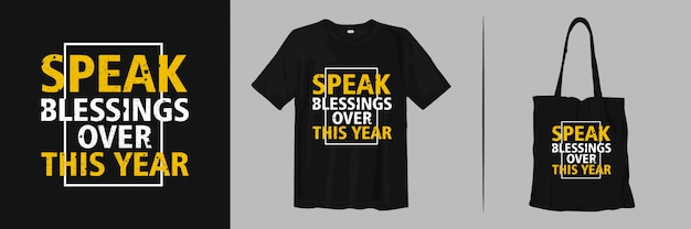 Spreek dit jaar zegeningen uit. citaat voor mode