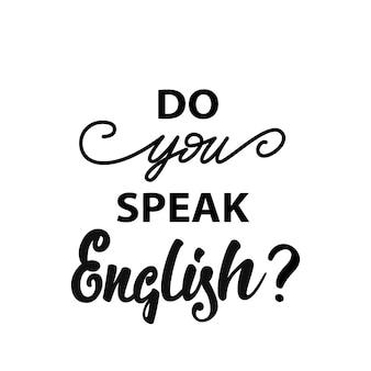 Spreekt u engels? banier