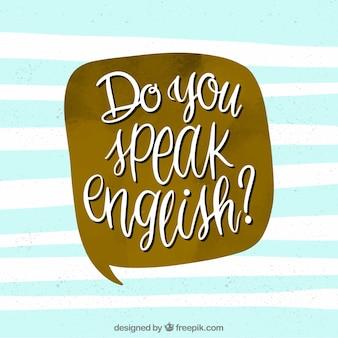 Spreekt u engelse achtergrond